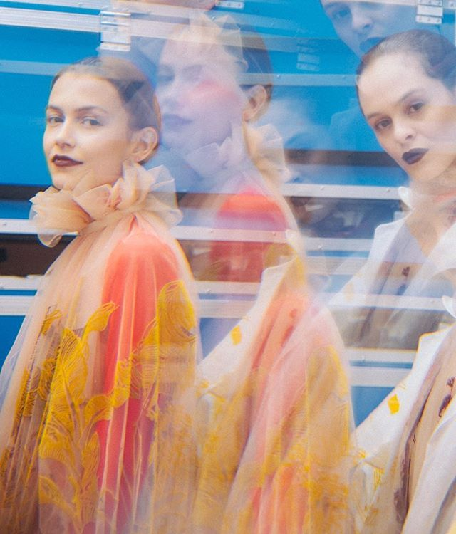 Backstage shots from the @officialgfw gala show!  Shot by @jadeberryphotography 💖 - - #fashion #gfw #gfw25 #gfw18 #textiles #vogue #print #screenprinting #flocking #devore #womenswear #abstract #art