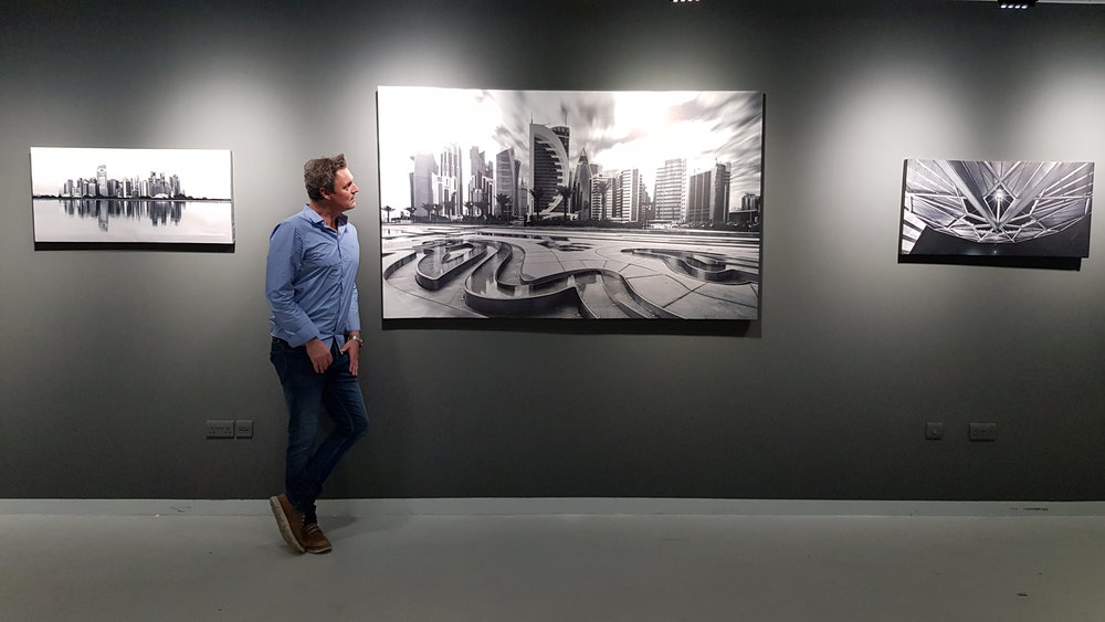 Many of the photos were printed at 2 meters wide, like this one called 'Ripple in time' over in the black and white section of the gallery.