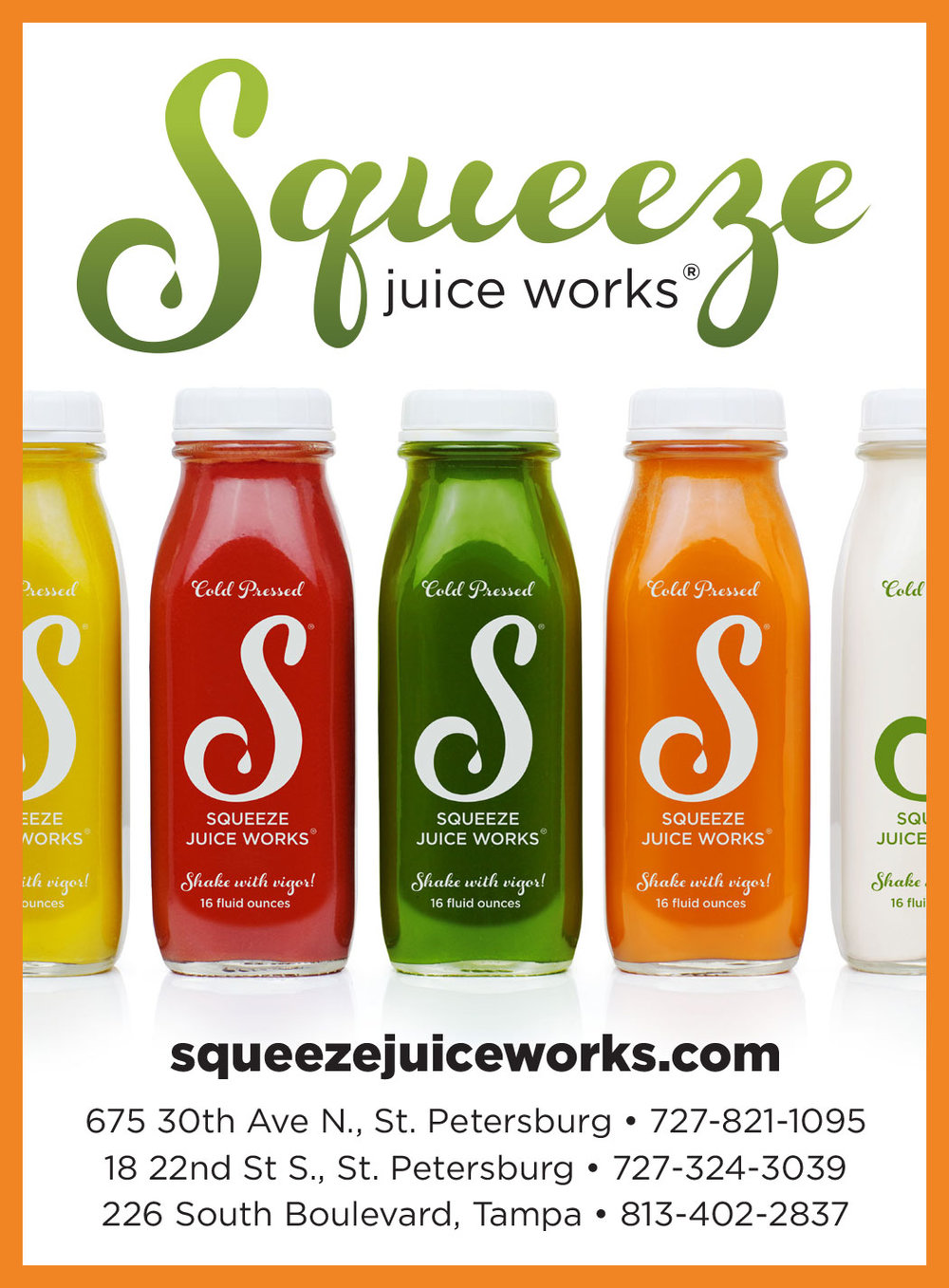 Squeeze Juice Works advertisement