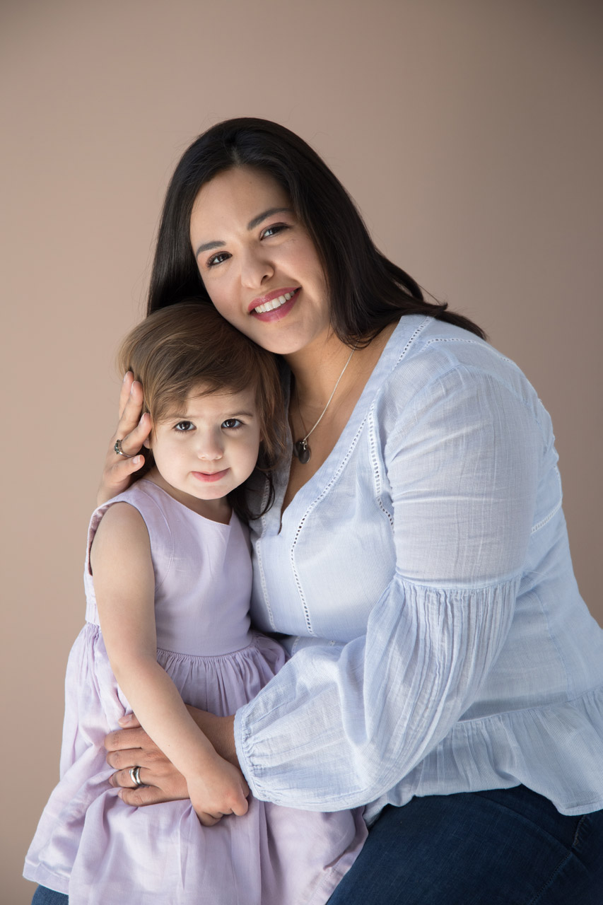 houston family photography studio portrait mother and daughter