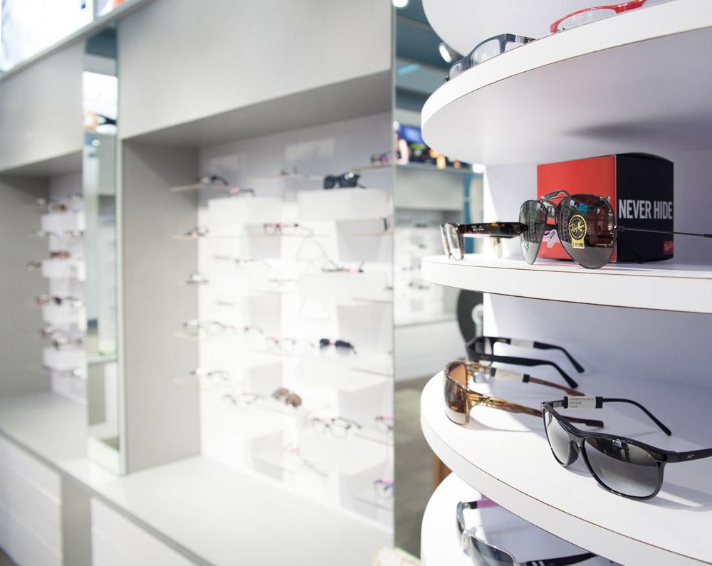 Houston architectural photographer retail optical display