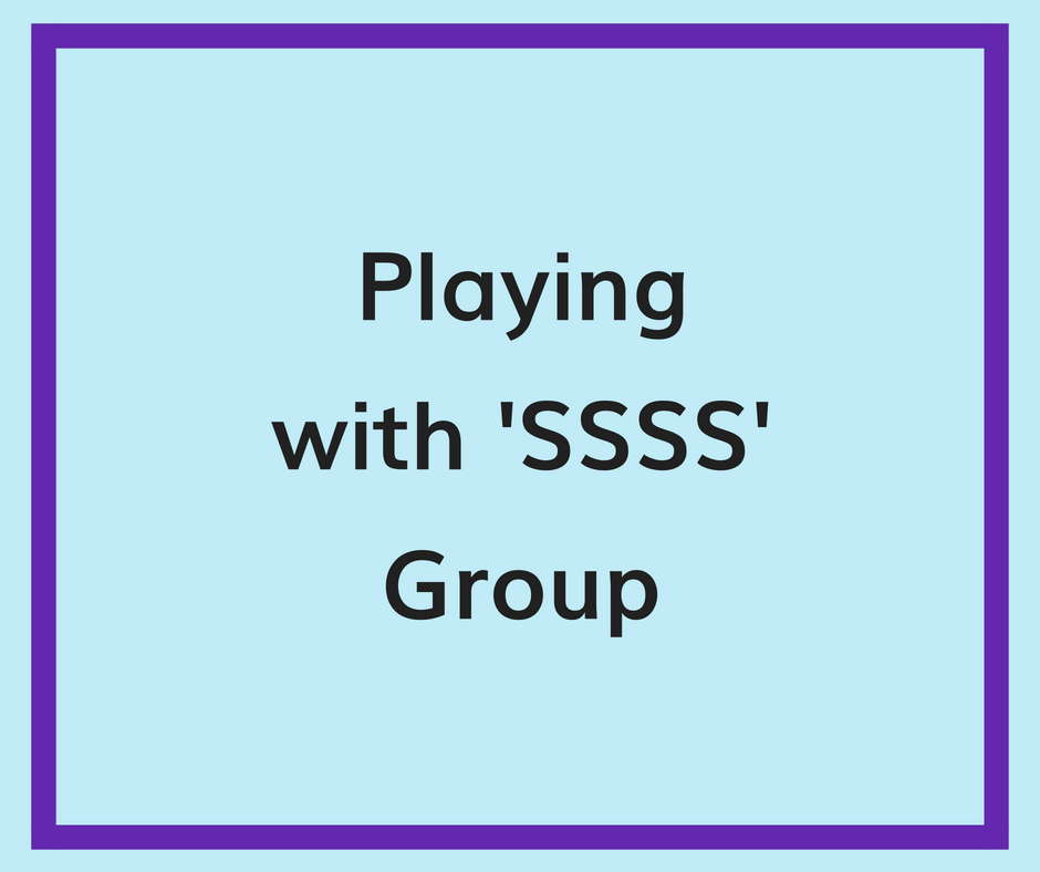 playing with ssss group