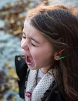 Angry girl child