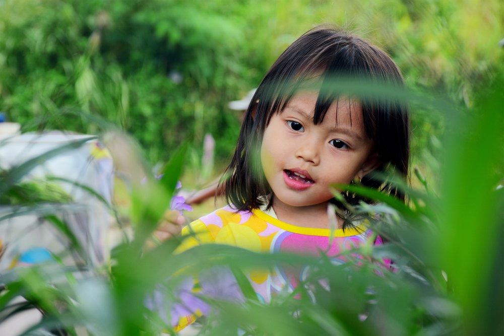 Girl child outside