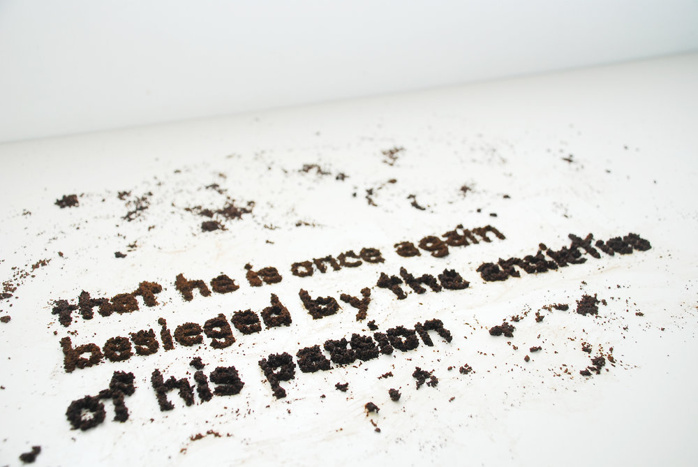 Quote in coffee grounds