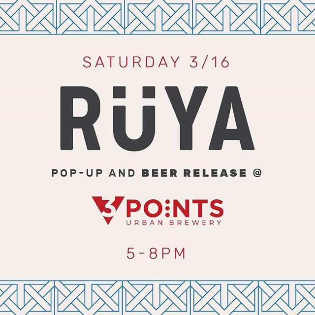 Yalla grab the squad & sip on your libation of choice. Serving up our collab with @3pointsbeer on tap & the Turkish coffee it was inspired by THIS SATURDAY. Limited supply of the beans we use will be available to take home with you!