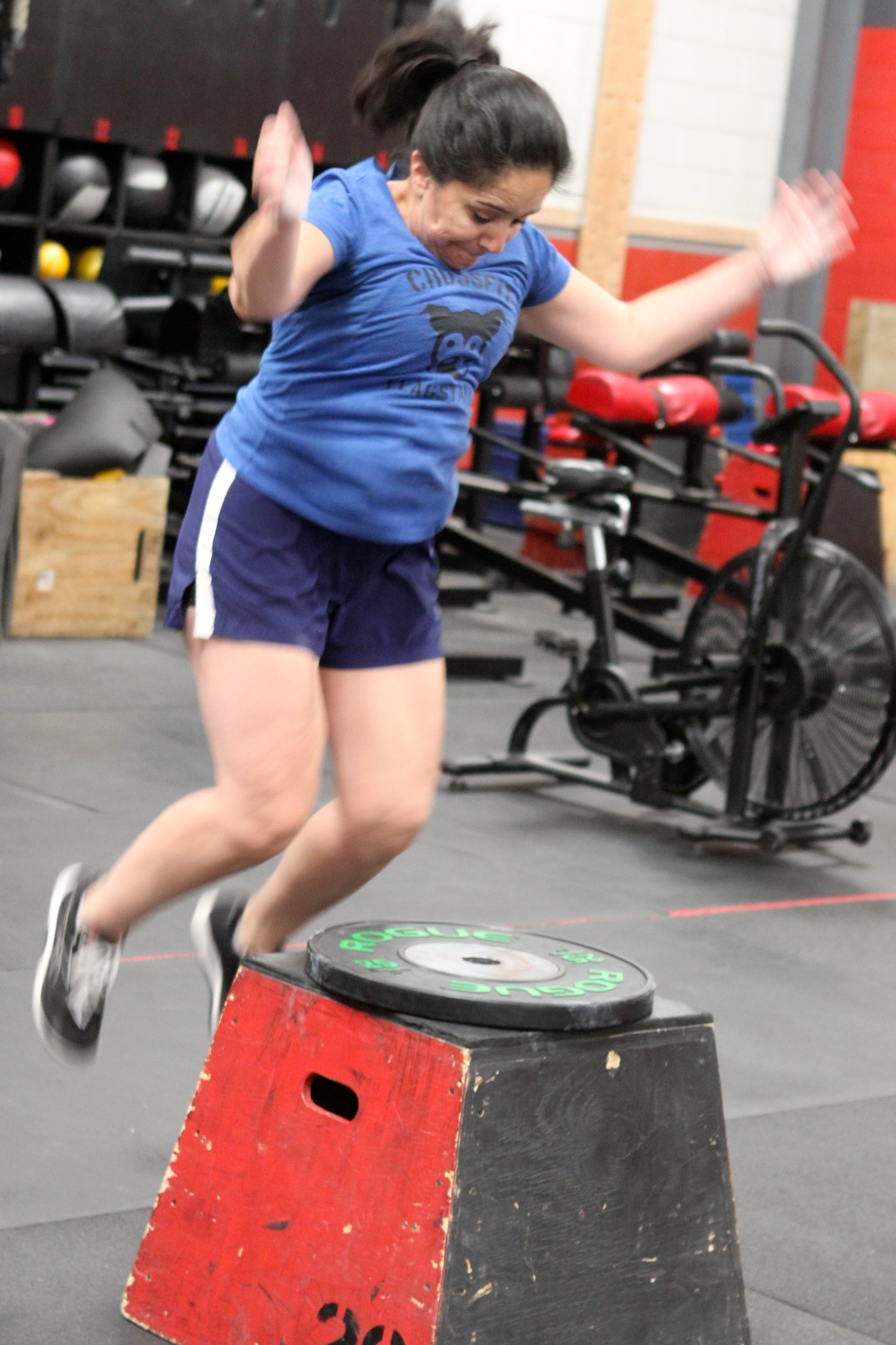 Clean and Box Jump — CrossFit Flagstaff