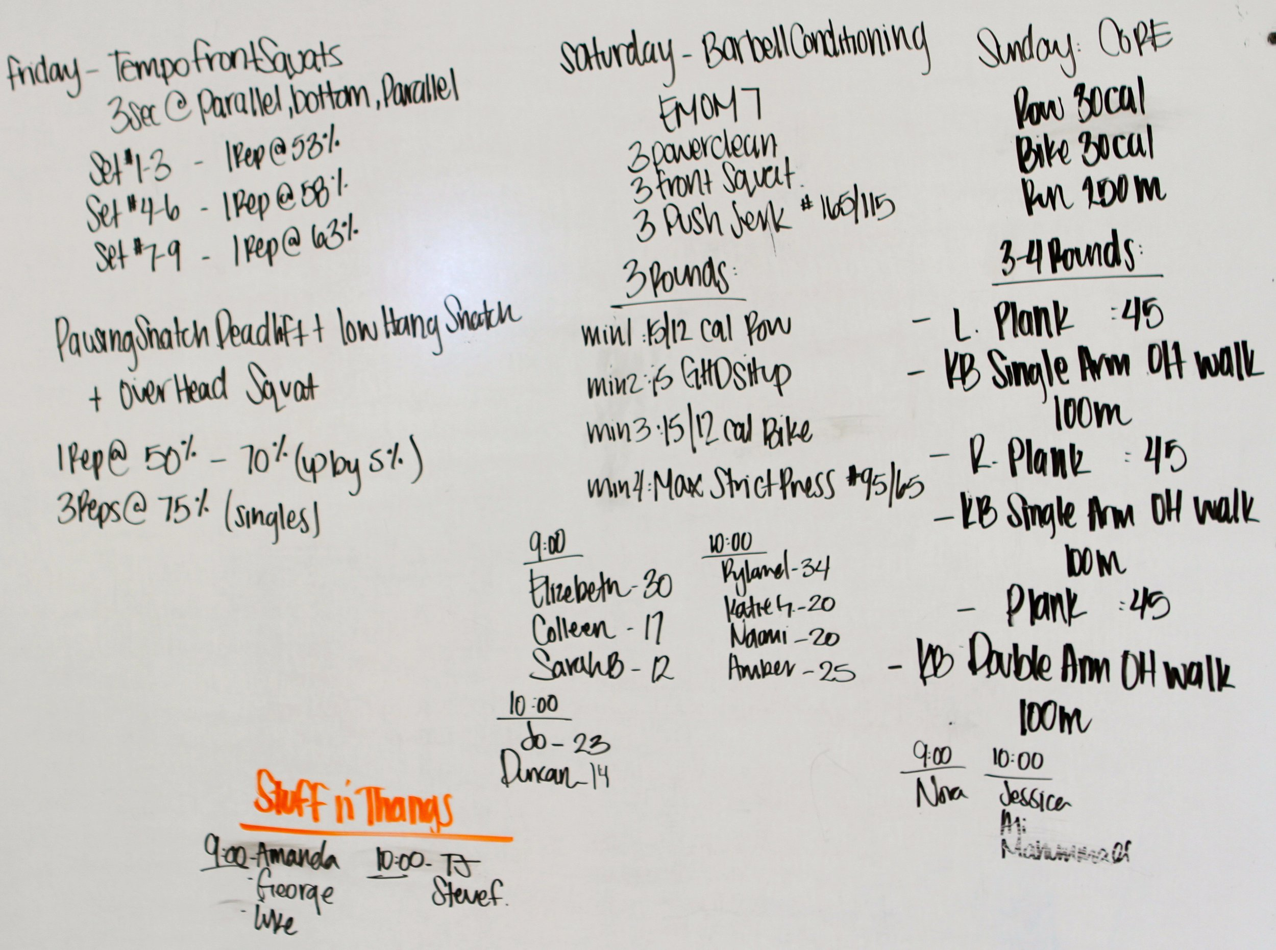 Sunday Make Up and Core Day — CrossFit Flagstaff