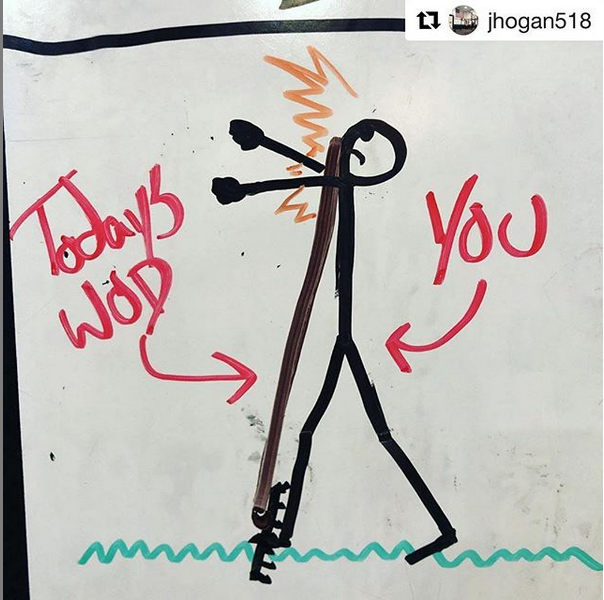 """When the workout doesn't look """"that bad"""" on the whiteboard…"""