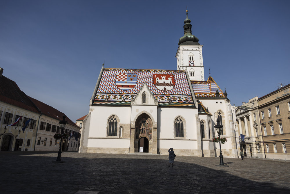 Saint Marks Church in Zagreb city center