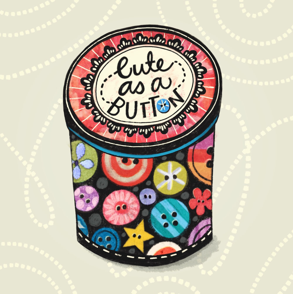 Cute As A Button - Tin