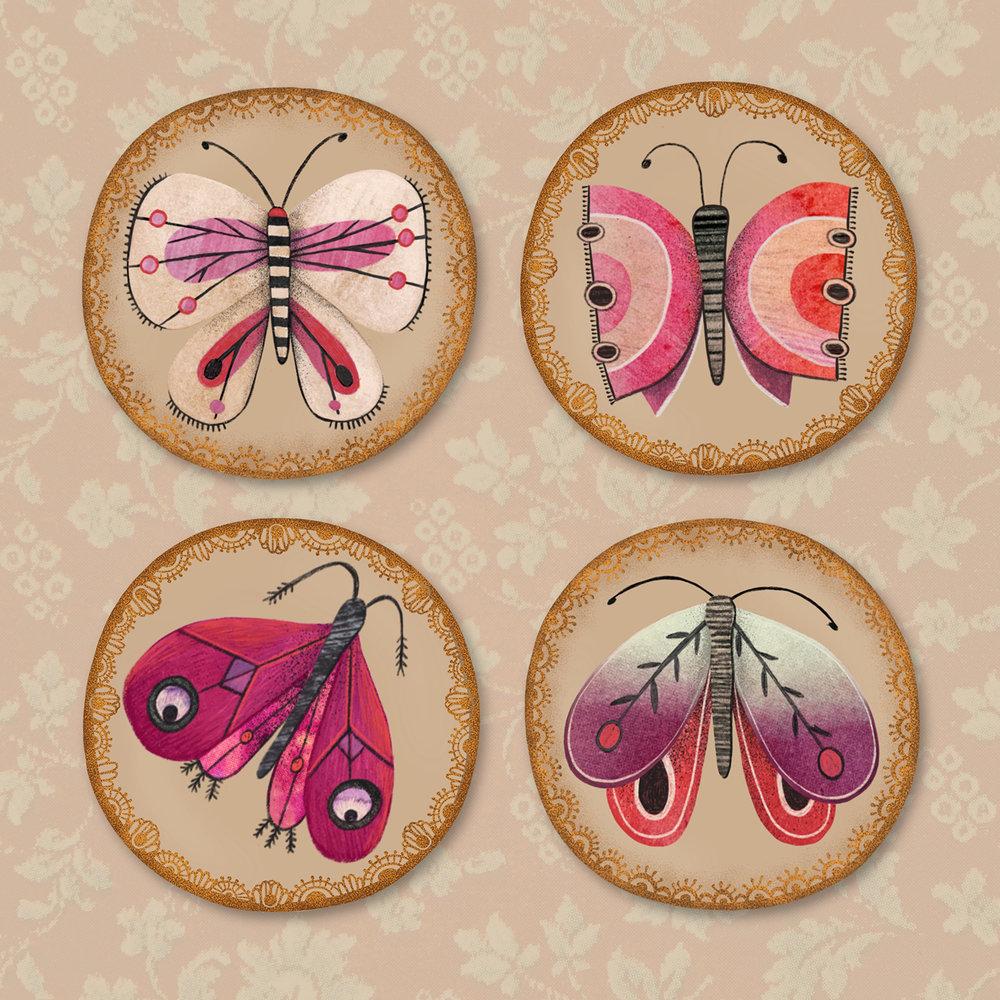 'Butterflied'Button Badges
