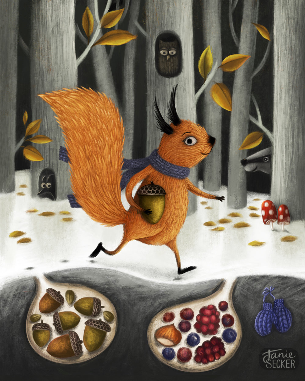 Squirreled Away - Character Design