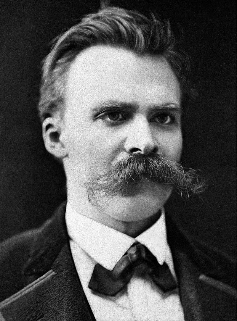 Friedrich Nietzsche. Killer mustache, by the way.