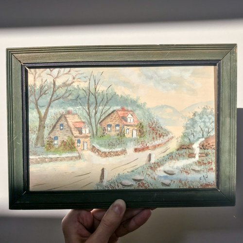 Vintage Watercolor Painting Marvalene