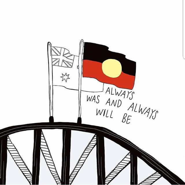 Our Ancestors, Elders and our emerging black youth are challenging the Australia day narrative, bringing truth telling and accountability to the forefront of the discussion  #alwayswasalwayswillbe #changethedate #invasionday white australia has a black history, lets go beyond recognition Art by @cheeky_palm