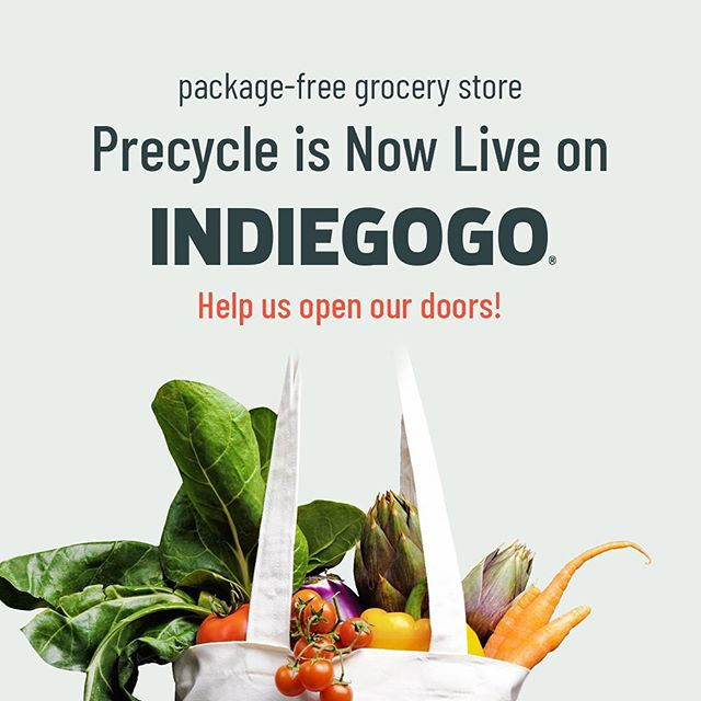Help us open our doors! Today we launched our crowdfunding campaign  and would love your support. Check out our campaign through the link in bio and please share with your friends! We can't do it without you. #precycle . . . . . . #zerowaste #wastefree #plasticfree #zero  #plastic #sustainability #foodwaste  #today #recycling #reduce #byob #eco #brooklyneats #circulareconomy #packaging #green #zerowastelifestyle #zerowastehelp #smallbusiness #bushwick #bushwicksmallbiz #iamwellandgood #organic #gogreen #bushwickdaily #timeoutnyc #bushwickresident #brooklynbased #brownstoner