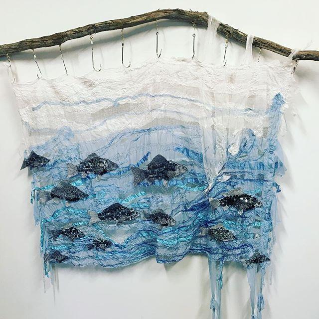 First prize, textile category. Wattle range art prize. Woo hoo .  #textile #textileart #fish #silk #rayonthread #handdyed #swimfish #wattlerangecouncil #wattlerange #artprize