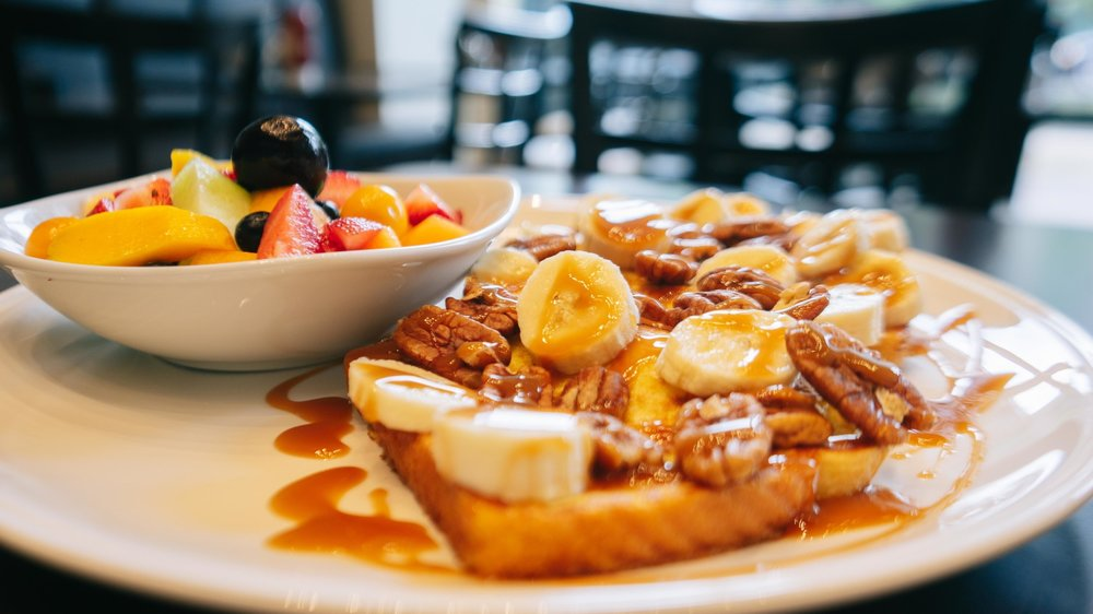 BANANA, NUT & CARAMEL FRENCH TOAST -