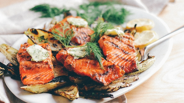 GRILLED SALMON -