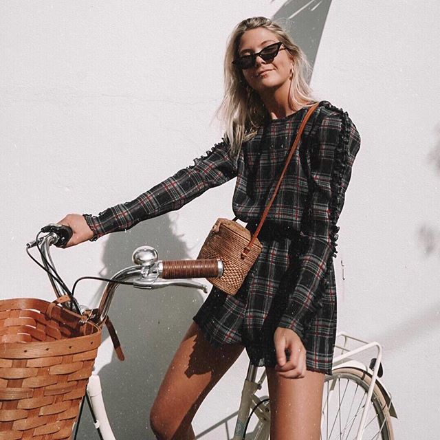 *sunday adventures - @jacquiealexander spotted in the Zone Tartan Playsuit - shop now at @fshnbnkr - #TheFifthLabel