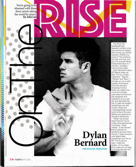 On The Rise Feature for Tiger Beat Print Magazine.