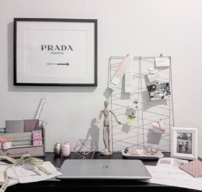 Our first picture is directly from our Atelier: Creative mess :)