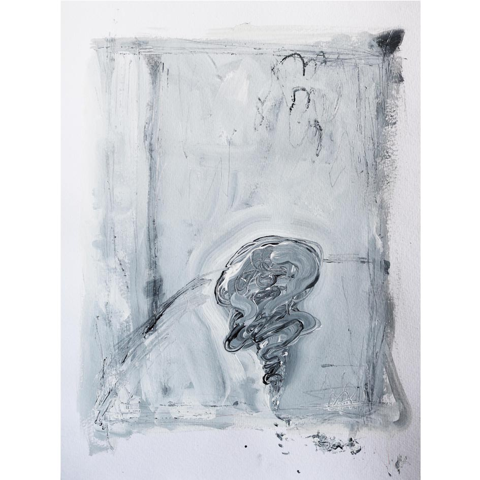 Untitled, 40×30cm, Acrylic on paper, 2016