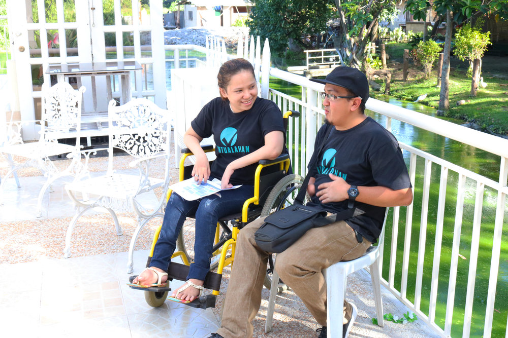 Mary Grace De Loyola and Arsenio Caballero Jr. during one of the wellness sessions of Virtualahan in Davao City