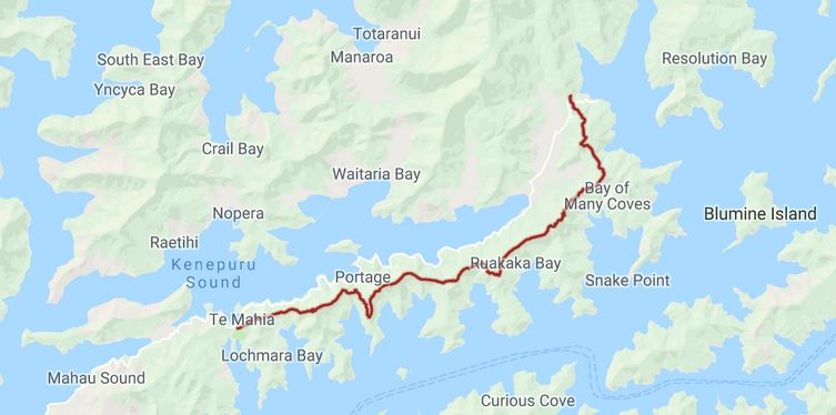 Queen Charlotte Track Map - Hike Queen Charlotte Track | The Global Curious Travel Blog