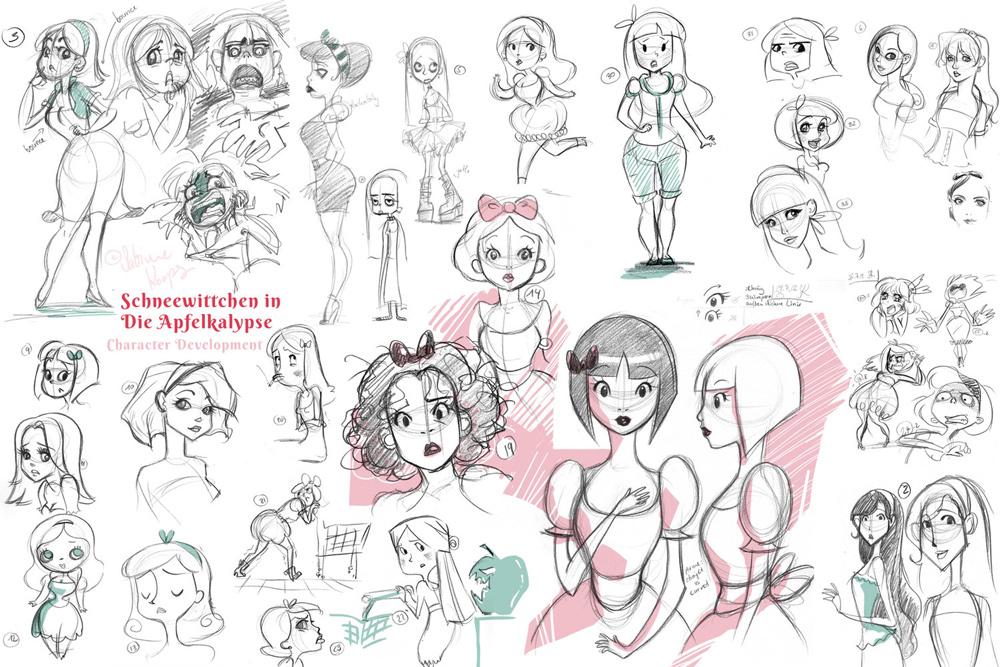 Character Scribbles by Sabine Koops