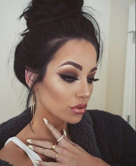 Maquiagem Marrom Com Delineado 5