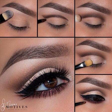 Maquiagem Marrom Com Delineado 6