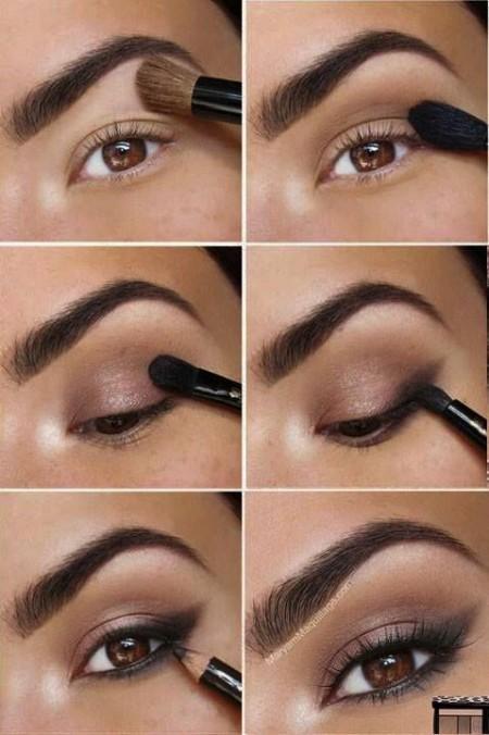 Maquiagem Marrom Com Delineado 8