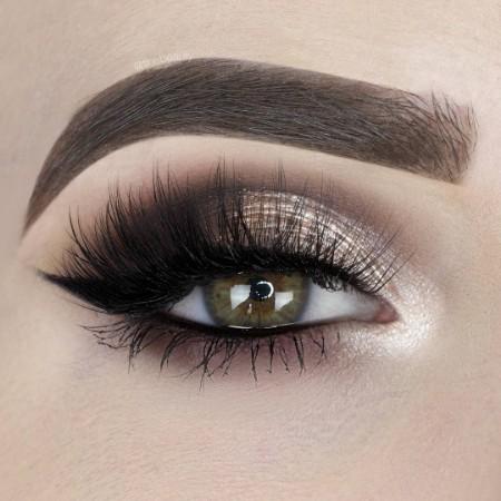 Maquiagem Marrom Com Dourado 5