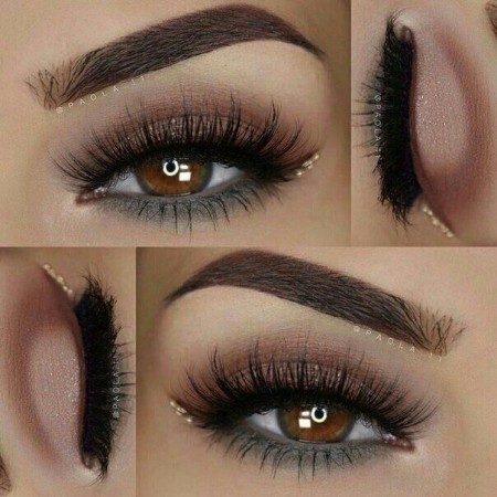 Maquiagem Marrom Com Glitter 2