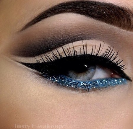 Maquiagem Marrom Com Glitter 6