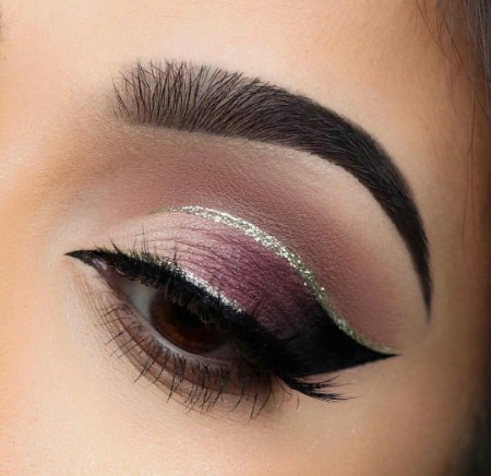 Maquiagem Marrom Com Glitter 9