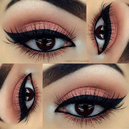 Maquiagem Marrom Com Rosa 0