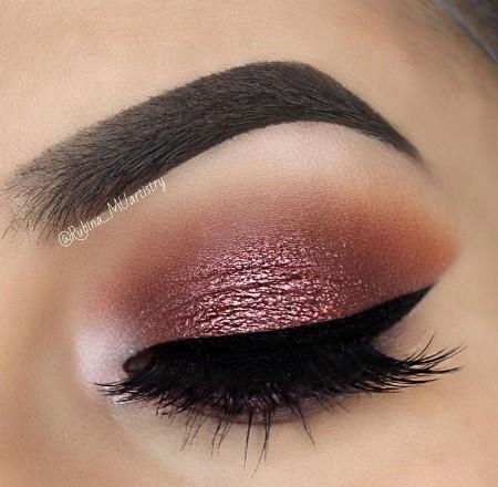 Maquiagem Marrom Com Rosa 1