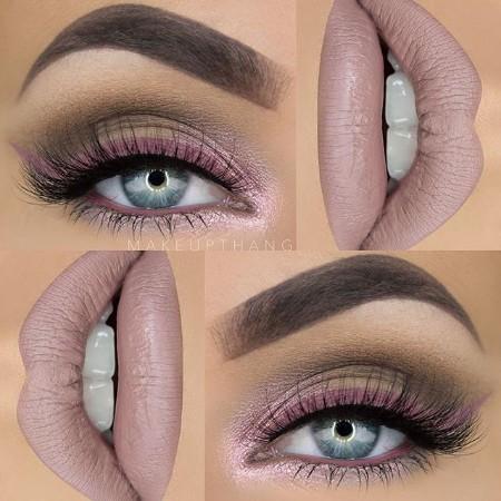 Maquiagem Marrom Com Rosa 10