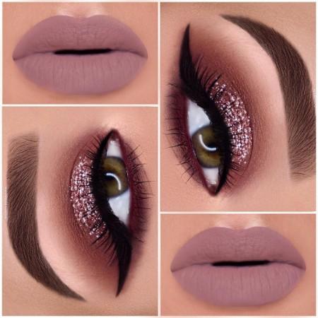 Maquiagem Marrom Com Rosa 6