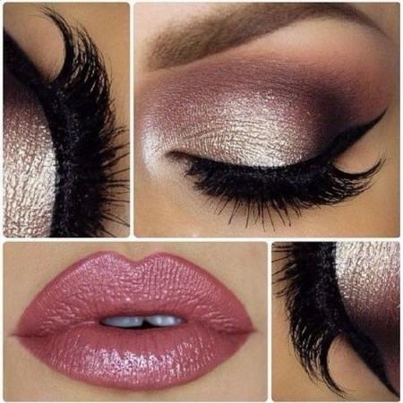 Maquiagem Marrom Com Rosa 9