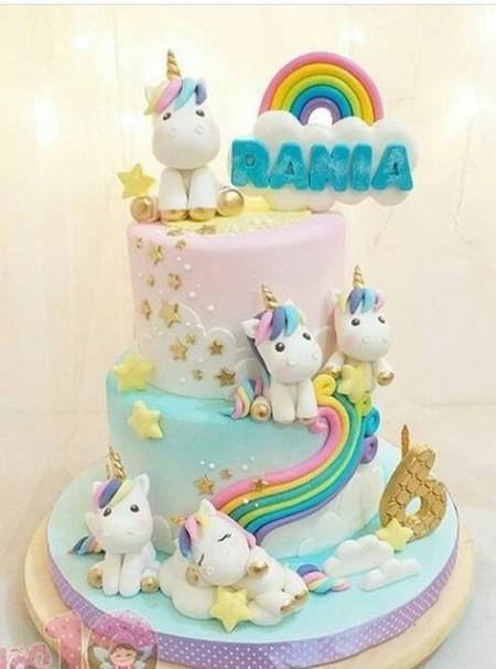 Bolo Festa Unicornio 7