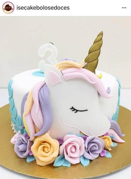 Bolo Unicornio Baby