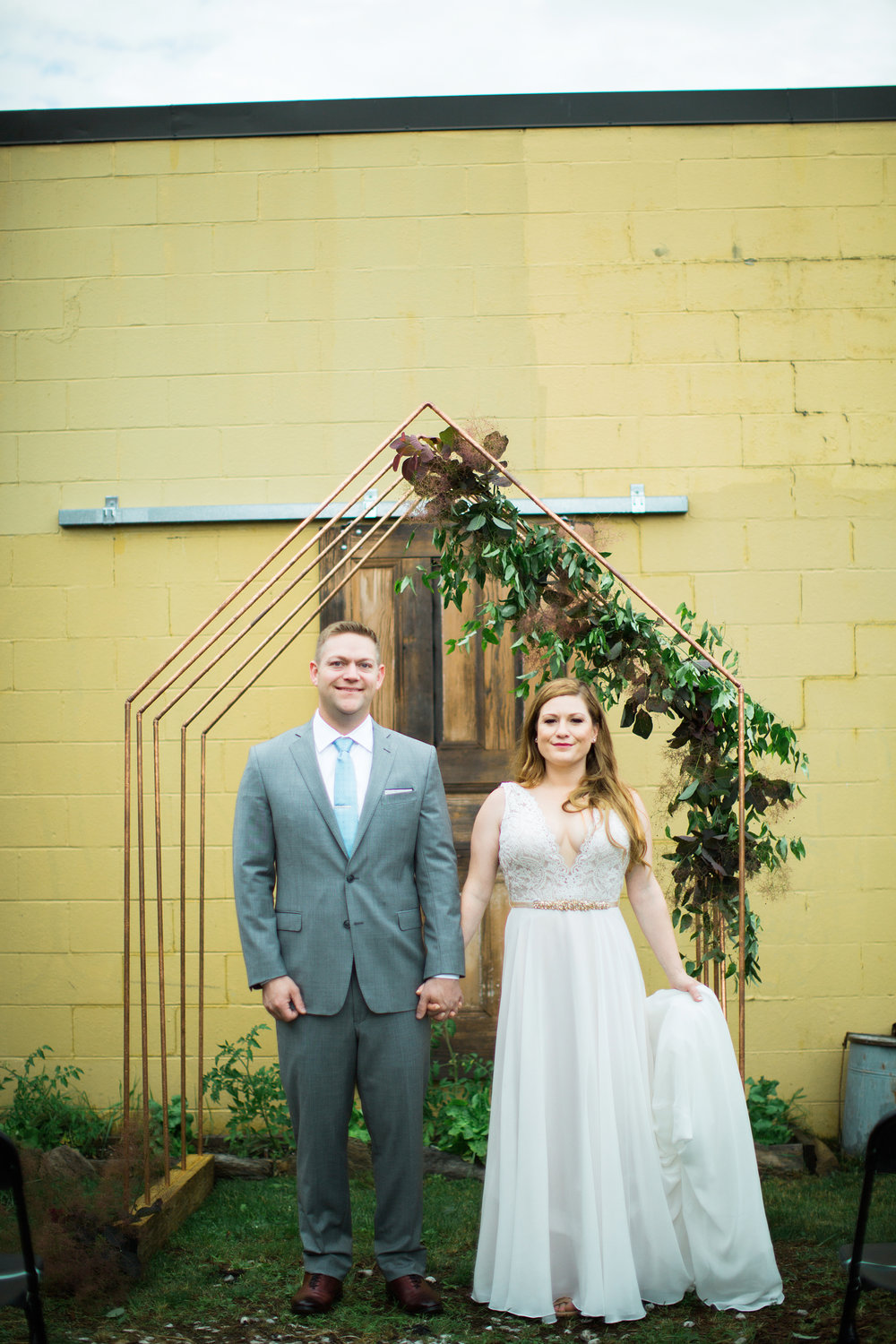 Copper Arbor at Wedding