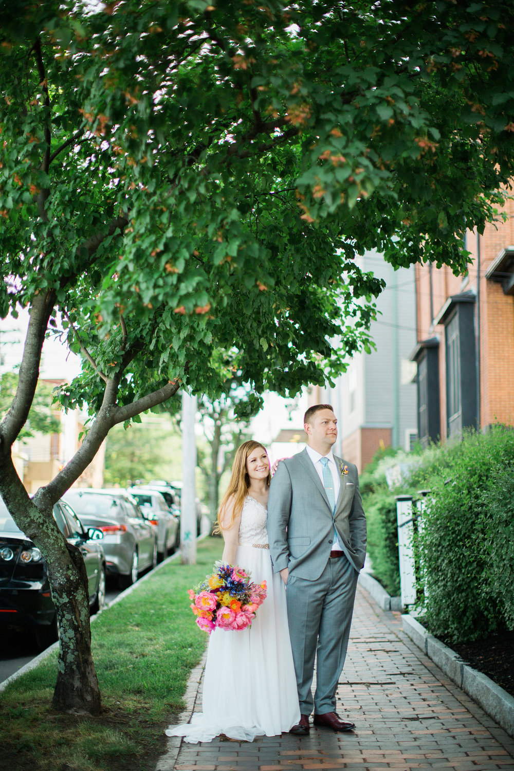 Downtown Portland Maine Wedding Photo