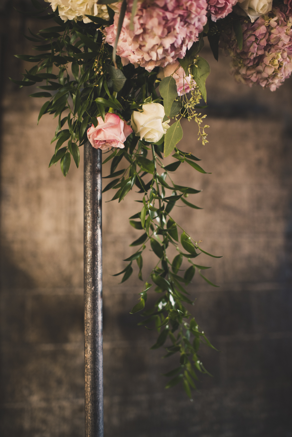 Draped Wedding Flowers