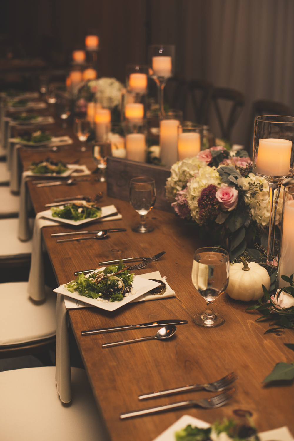 Table Setting Idea for Fall Wedding