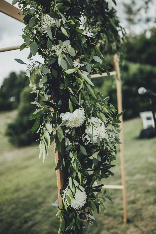 Flower Garland on Wedding Arbor